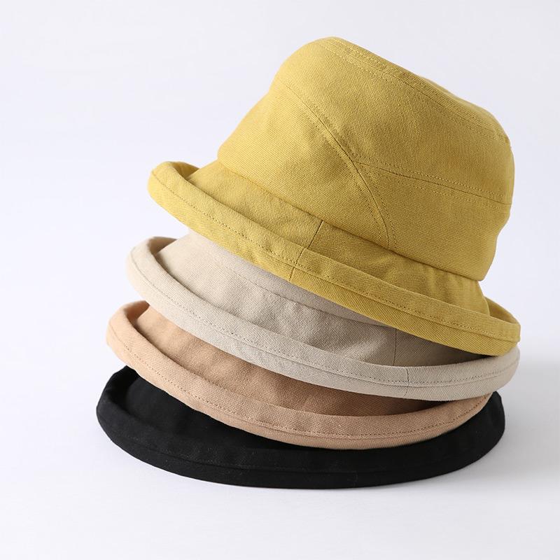 女夏季薄款防晒遮阳卷边渔夫帽