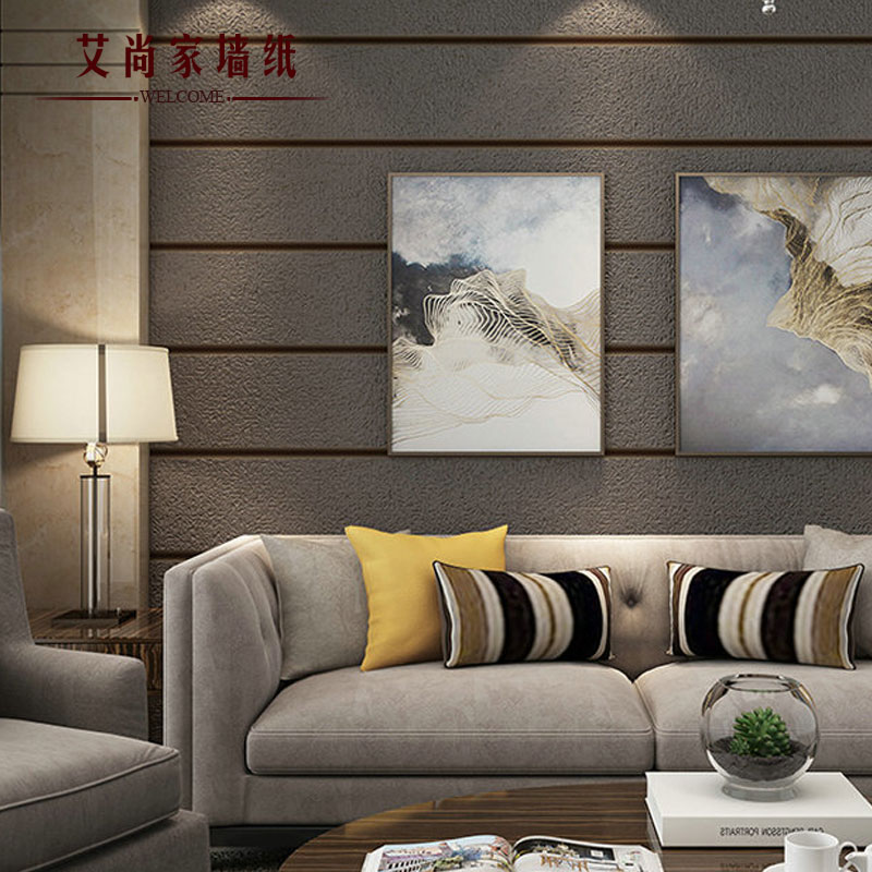 . Simple non woven marble wallpaper bedroom living room TV background wall 3d  three dimensional horizontal stripes vertical stripes wallpaper