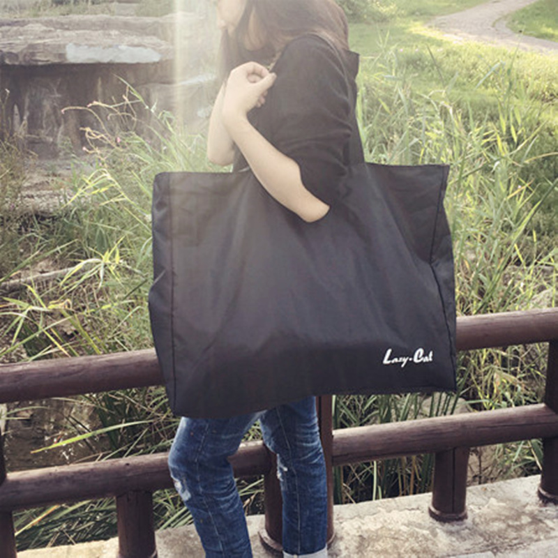 购物袋牛津容量女韩版超大帆布提超市学生特大环保买菜包v容量号手