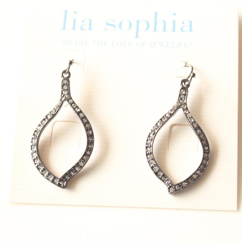New Lia Sophia Floral Drop Dangle Earrings Best Gift Fashion Women Party Jewelry