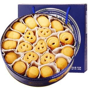 蓝罐铁盒曲奇饼干908g