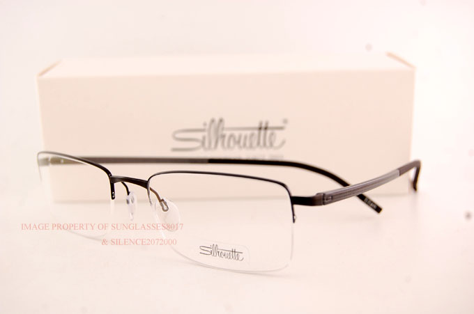 65fbfb9c09a New Silhouette Eyeglass Frames Illusion Nylor 5428 6059 Black Men ...