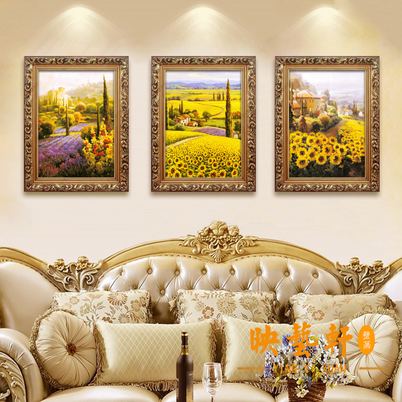 European framed classical painting decorative painting living room ...
