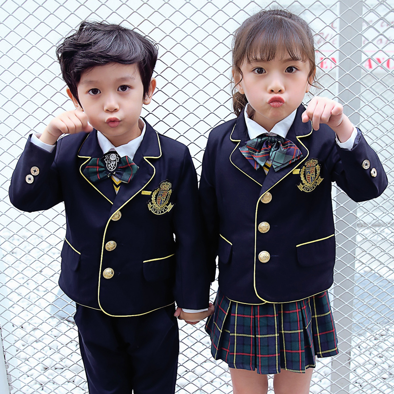 Boys And S Small Suit Jacket Middle School Students Uniforms England College Wind Nursery Garden Clothes Fall Winter Custom
