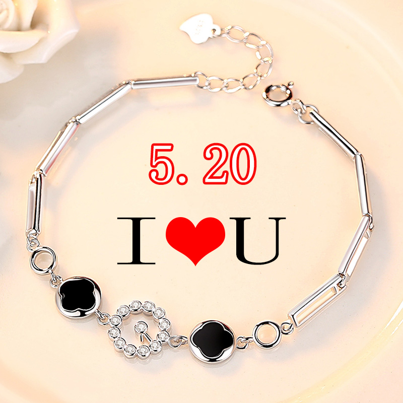 Usd 70 73 Clover Silver Bracelet Girls Simple S925 Silver Jewelry
