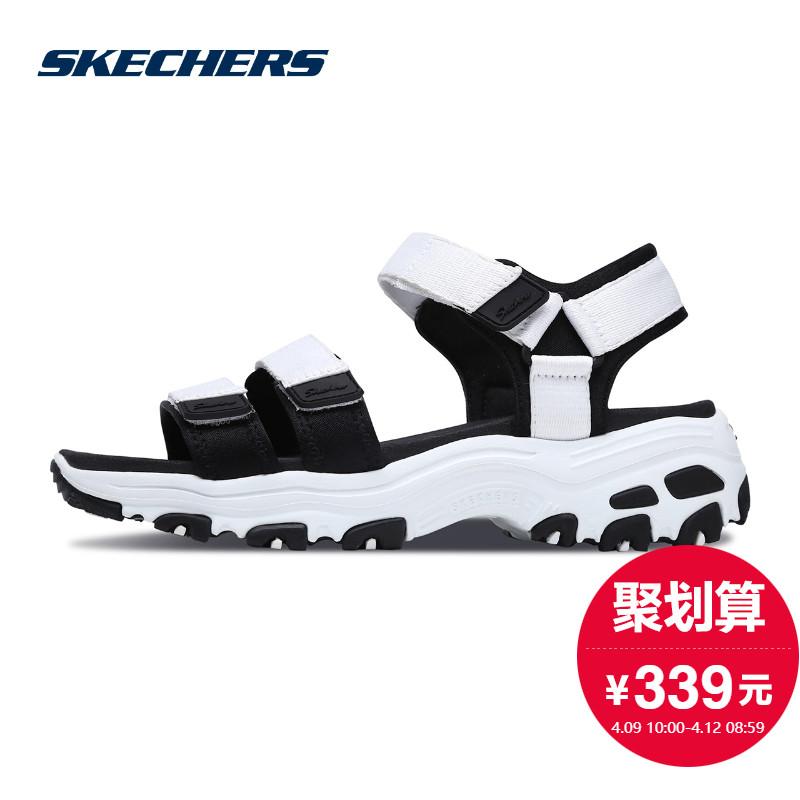 Skechers скай странный обувь женская Dlites толстая корка повышать сандалии на липучках обувь casual 31514