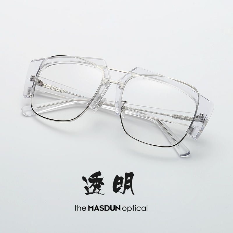 3a6a673ac8233 Big face glasses frame influx of men and women transparent myopia eyes frame  Korean version of the half-frame Red anti-blue retro with degrees
