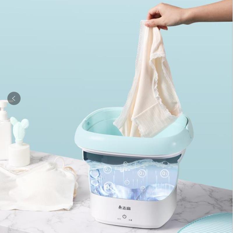 志高杀菌超声波清洗机便携内衣裤折叠洗衣机袜子神器小型迷你自动