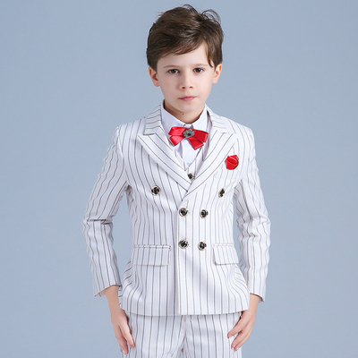 Boy striped suit jacket Korean children's suits boys dress flower girl men's catwalk costumes