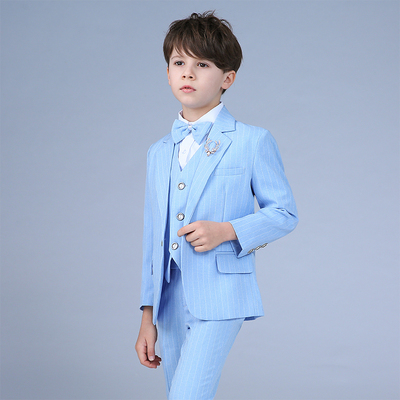 Children's suits, men's suits, Korean version casual stripes suits, children's flower suits