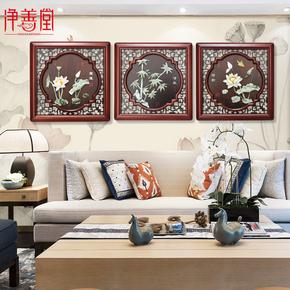 Изделия из нефрита,  Новый китайский стиль вход нефрит декоративный гостиная дерево резьба фон стена живопись идти галерея магазин рельеф нефрит модельывать кулон, цена 2409 руб