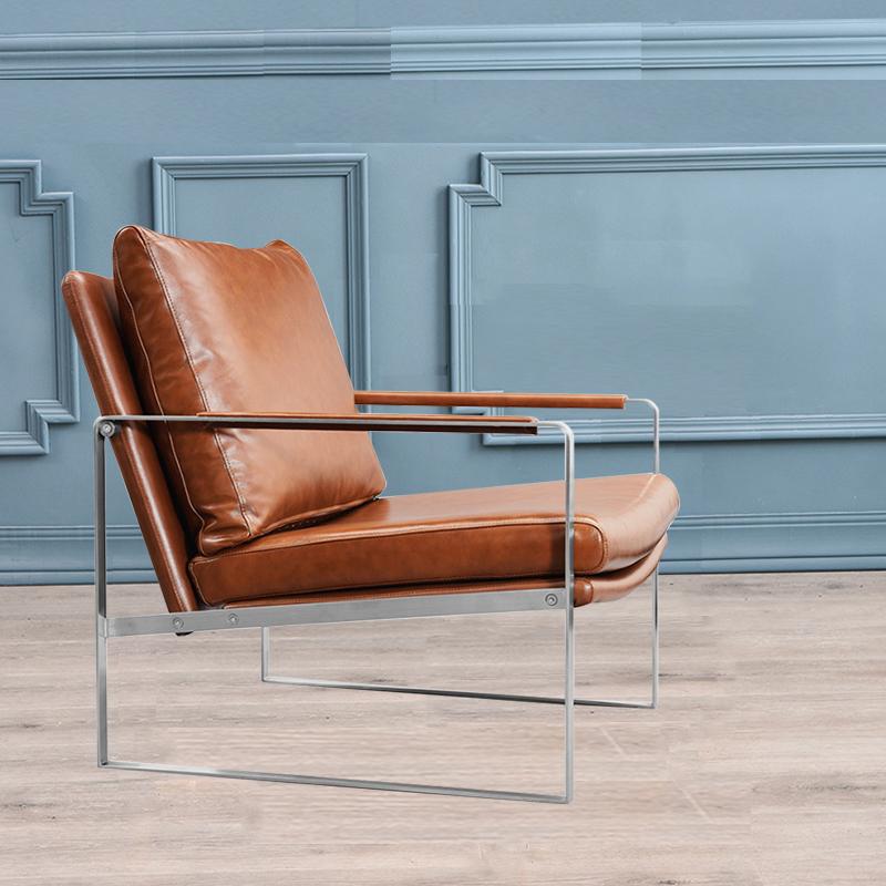 Нордический италии кожа одноместный диван стул случайный стул домой бездельник стул сын поколение свет экстравагантный дизайнер стул
