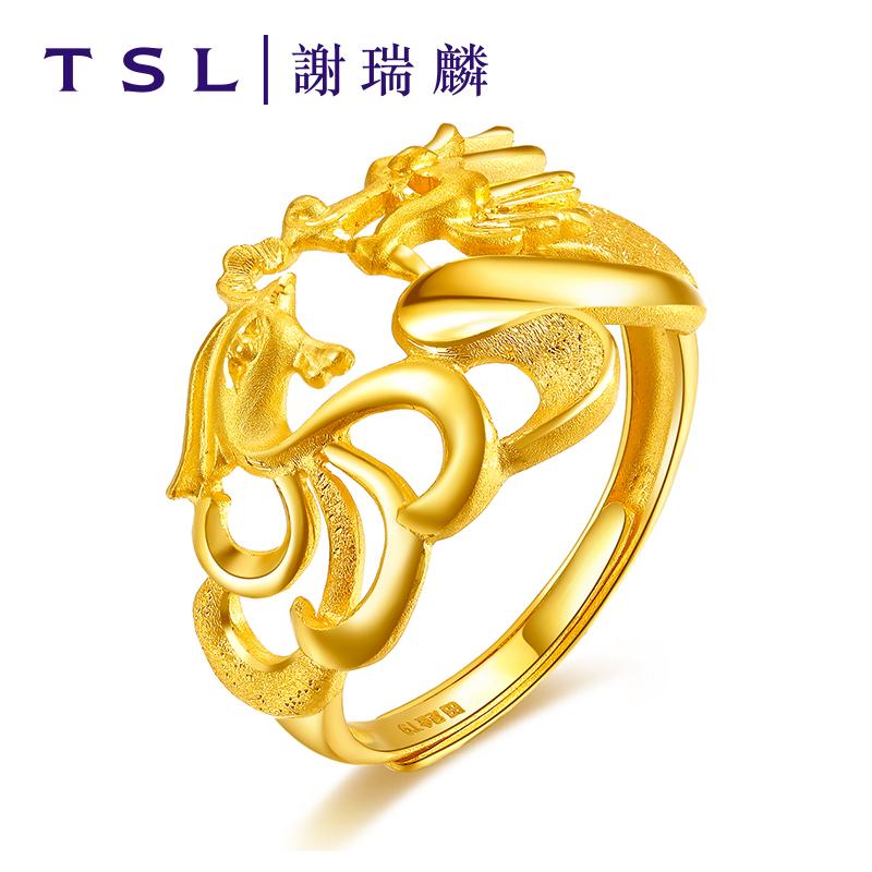 0 00 tsl xie rui lin gold ring female models dragon and phoenix