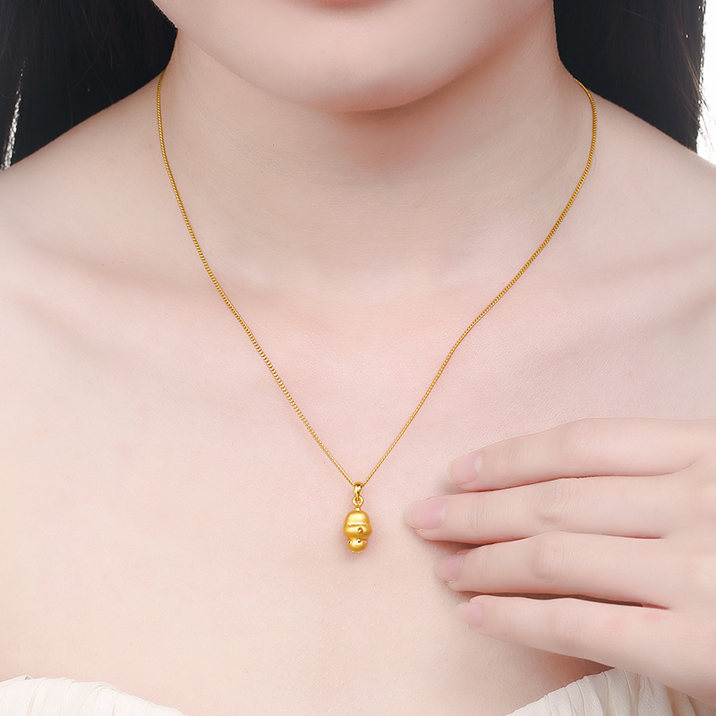 chinese sheep gold pendant zodiac necklace