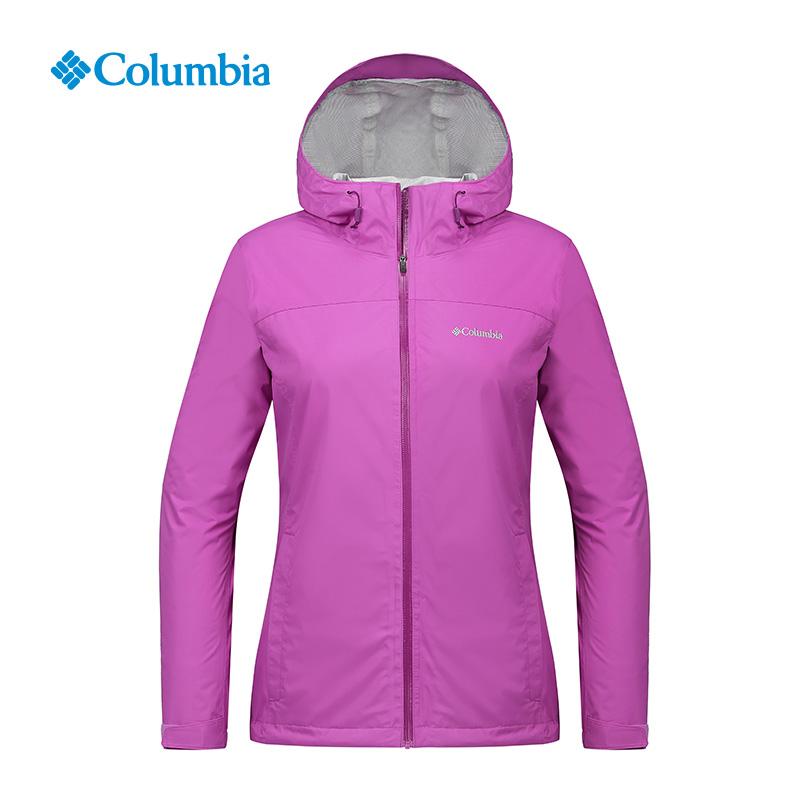 Columbia-哥倫比亞戶外女款防水沖鋒衣PL2771