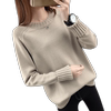 Snowflake Ling autumn and winter new loose round neck pullover sweater female autumn and winter models Korean long-sleeved wild bottoming sweater