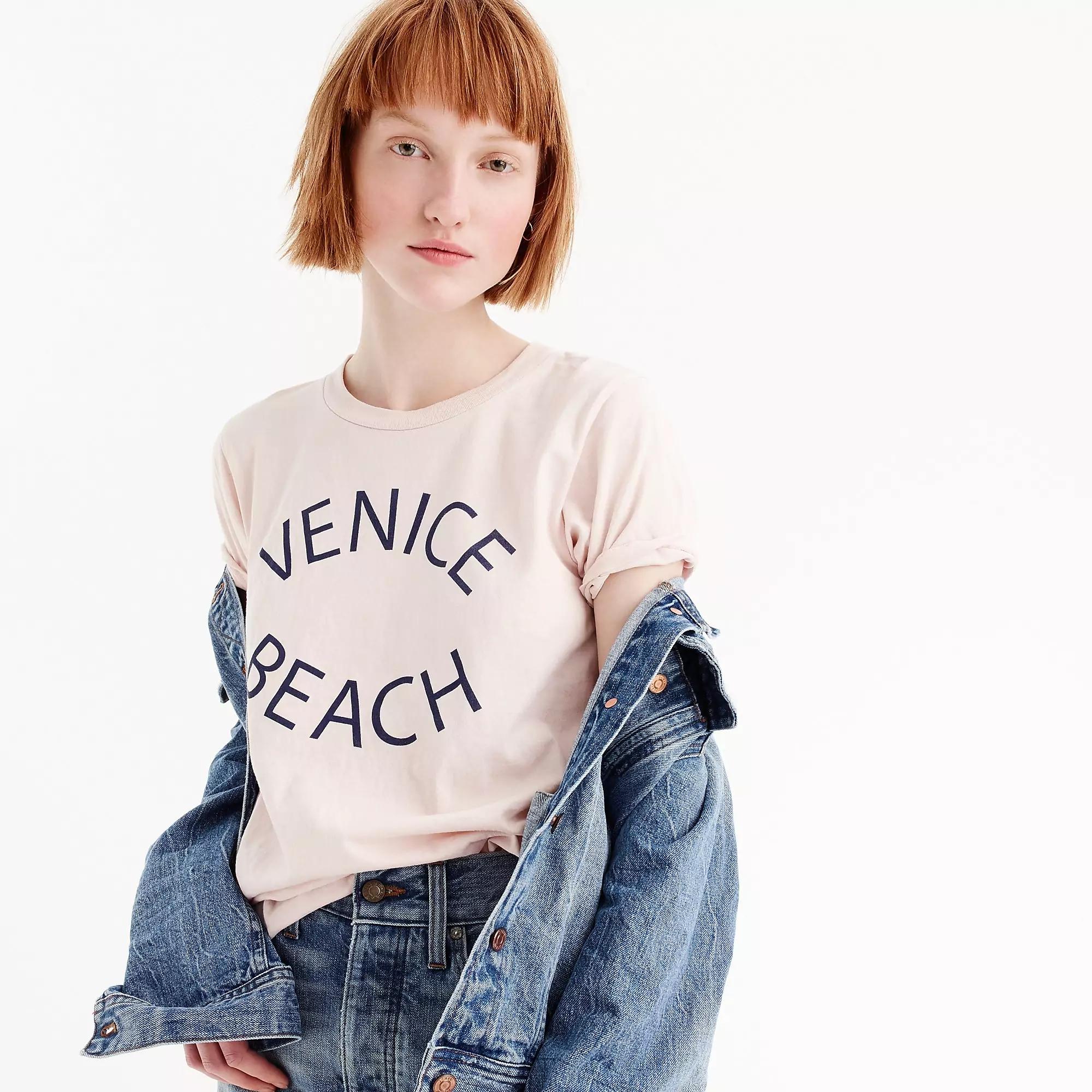 """秒发 美国代购 j*crew 短袖T """"Venice Beach"""" graphic T-shirt"""