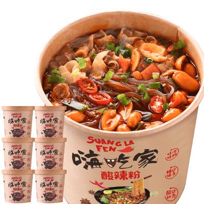 忆之味嗨吃家网红酸辣粉丝米线桶装重庆正宗红薯粉方便速食夜宵