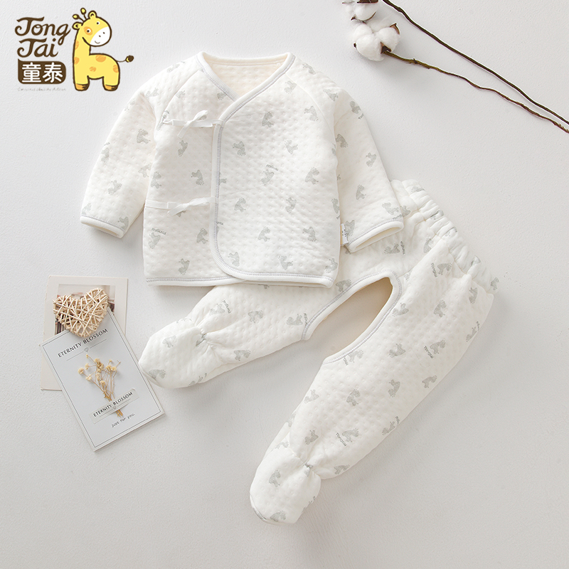 09c7ef2b4 USD 3.93  Tong Tai baby cotton clothes autumn and winter thickening ...