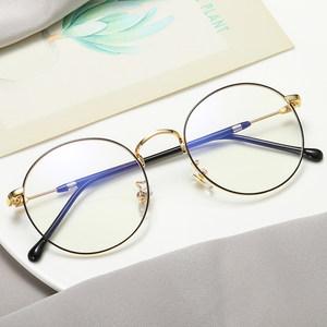 防辐射眼镜女近视有度数圆脸韩版潮复古全框眼睛框镜架男可配成品