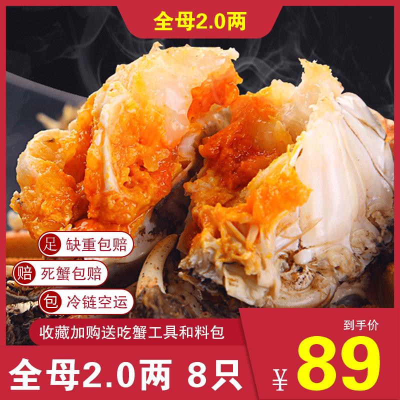 【8只装】螃蟹鲜活大闸蟹长荡湖全母1.8~2.0两特大蟹现货湖蟹河蟹