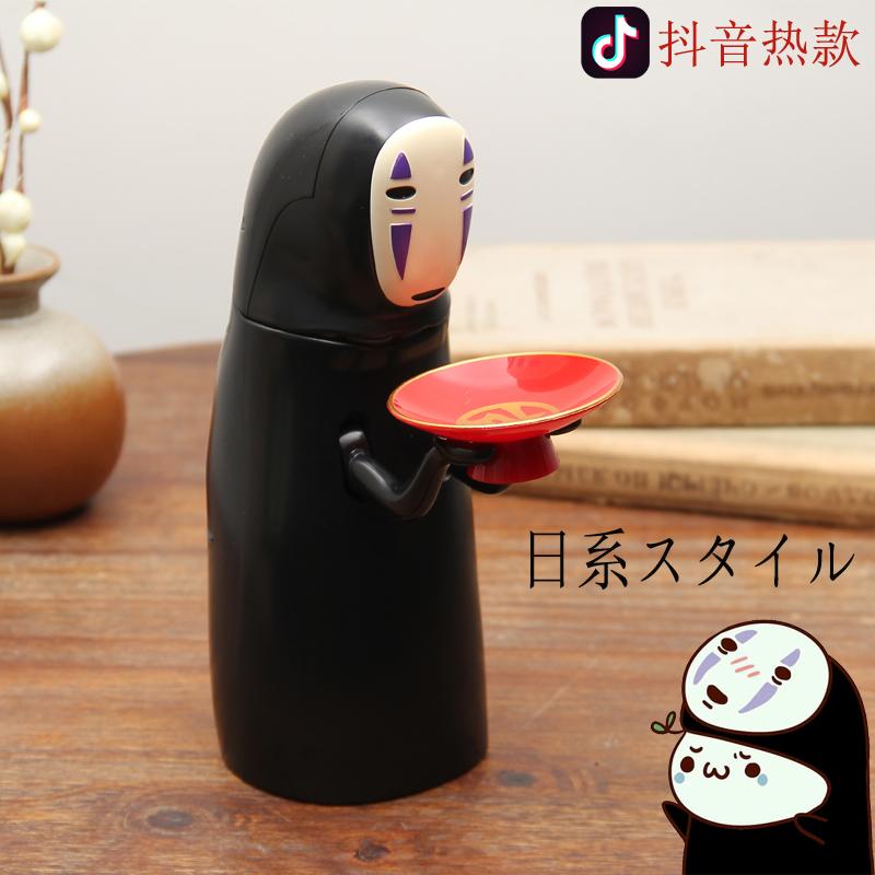 有趣存硬币打嗝储蓄罐无脸男存钱罐千与千寻吃女生绪钱筒日本储罐