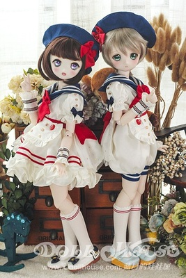 taobao agent [Blue Moon's Doll House] [190414] 4 points BJD giant baby MDD wear baby clothes little sailor male and female twins