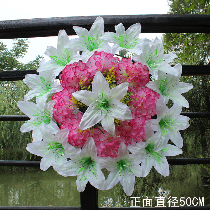 Usd 802 silk flowers qingming flowers grave flowers simulation silk flowers qingming flowers grave flowers simulation chrysanthemum large wreath worship flowers fake flowers wholesale cemetery mightylinksfo