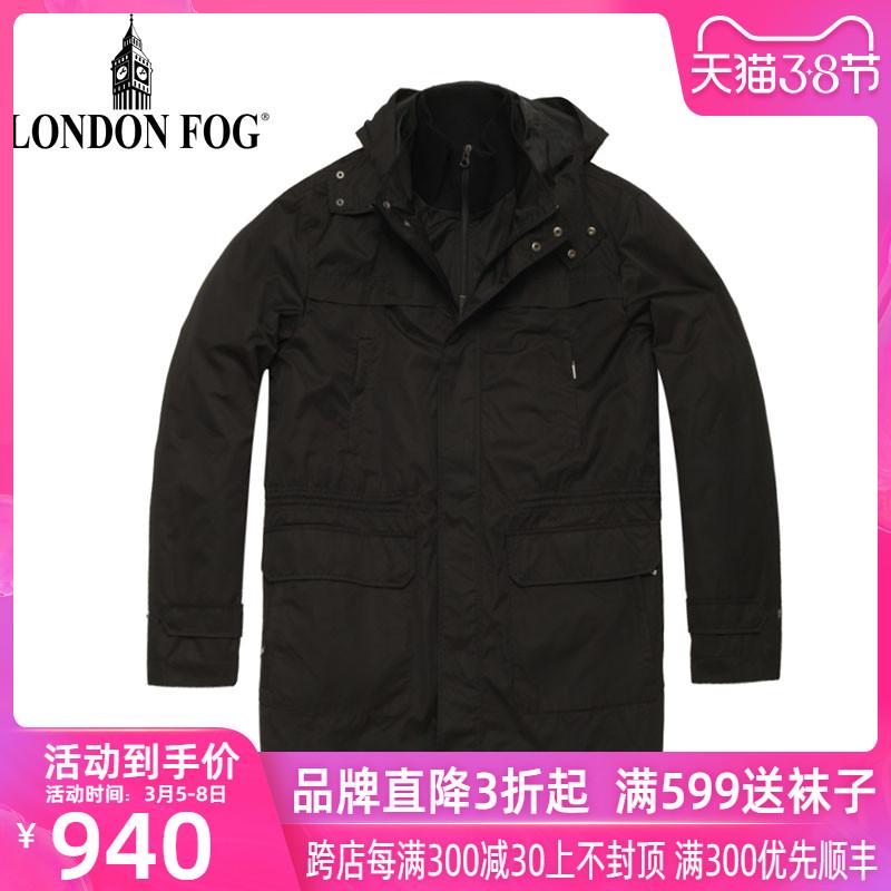 LONDON FOG / cửa hàng sương mù sương mù London cửa hàng áo khoác nam mùa thu và mùa đông dày trung áo dài LW11WF216 - Áo gió
