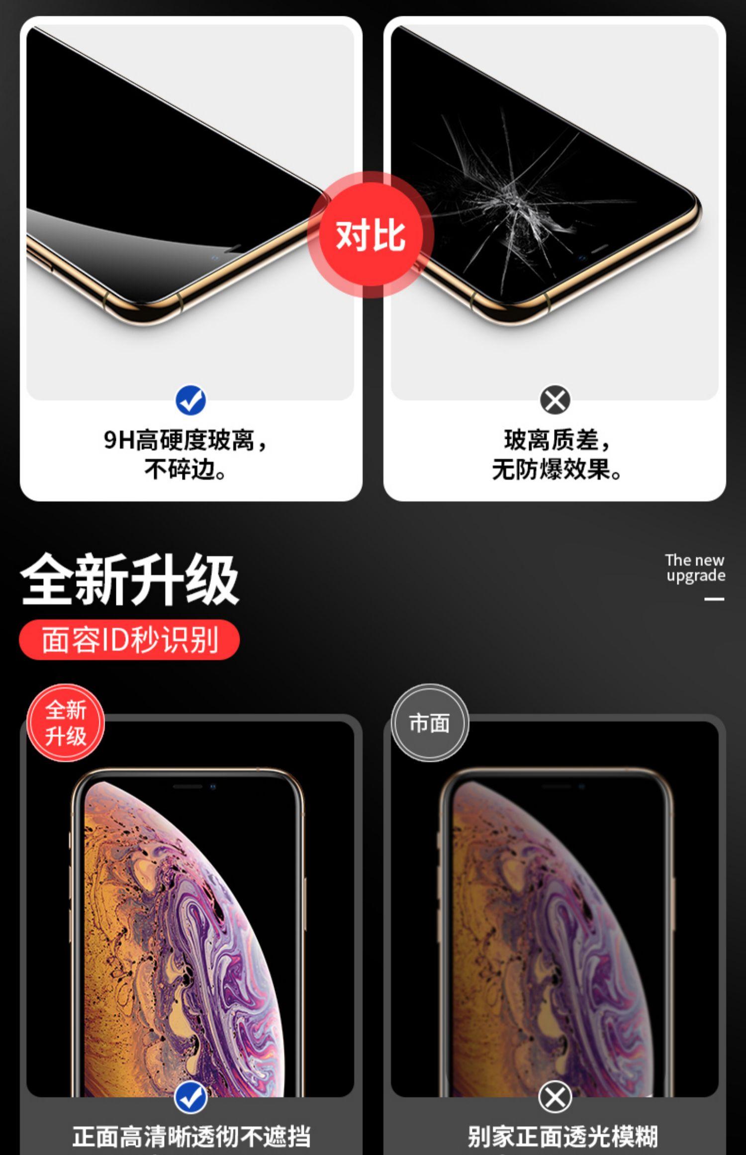 苹果系列高清钢化膜*2片8