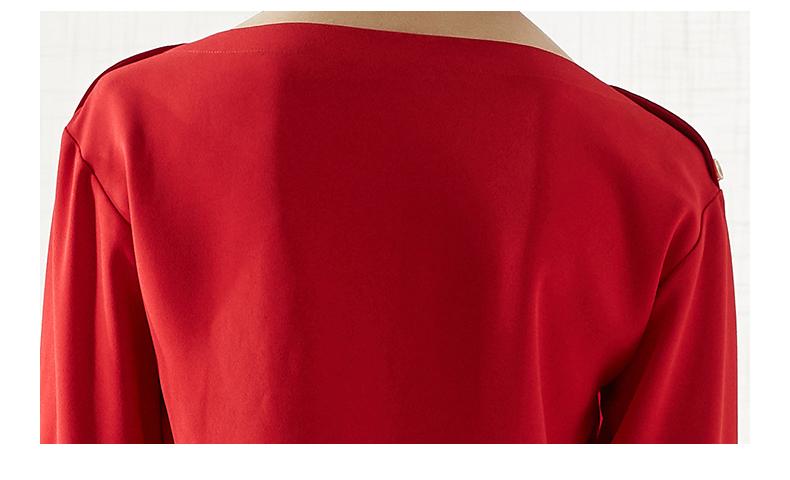 拉夏贝尔衬衫2019新款春装短款上衣露肩小衫
