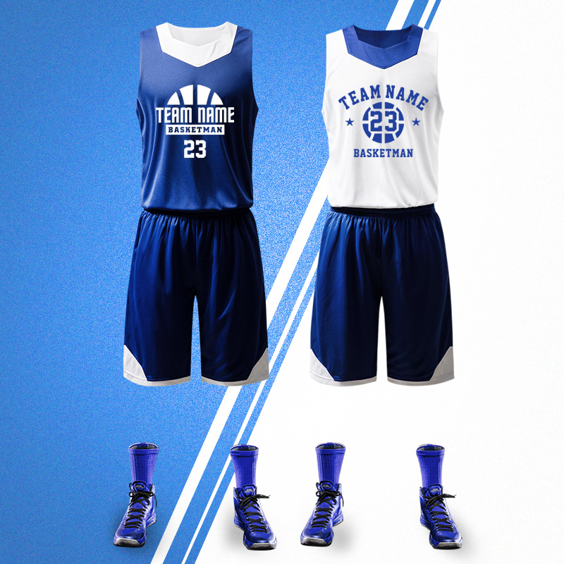 fff75c552 Basketball jerseys basketball suits men s custom breathable double-sided  wear basketball uniforms competition sports training suits printing