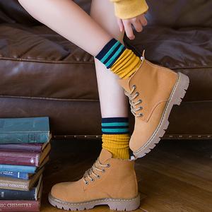 堆堆袜子女棉袜春秋韩版学院风日系潮中筒袜韩国可爱百搭长筒袜女