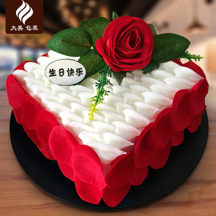 Y107 square roses carousel new simulation birthday cake model sample