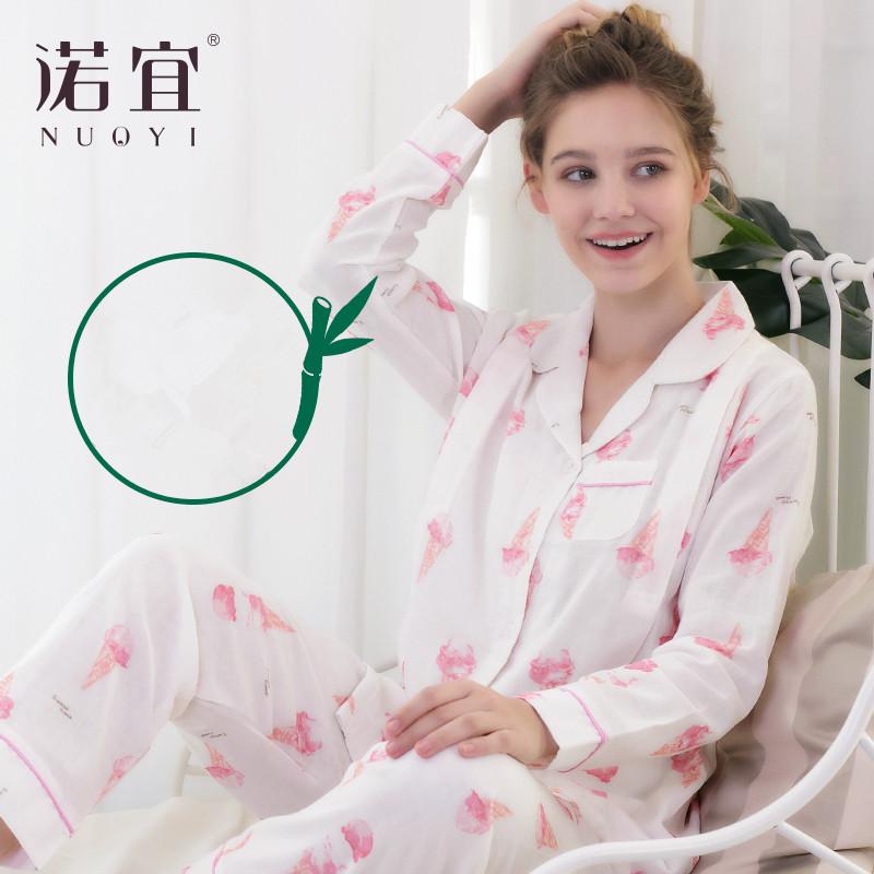 月子服夏 薄款 产后哺乳产妇孕妇睡衣夏家居服纱布月子服喂奶睡衣