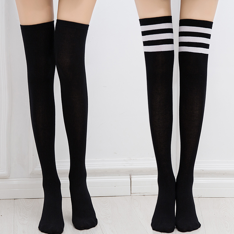 729e5d9b0 Knee socks female tube socks Korean version of the wind Japanese spring and  summer thin section students high tube socks Korean stockings female