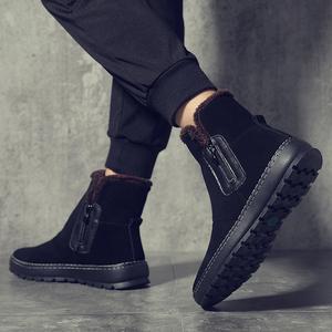 新款雪地靴男冬季加绒保暖棉鞋