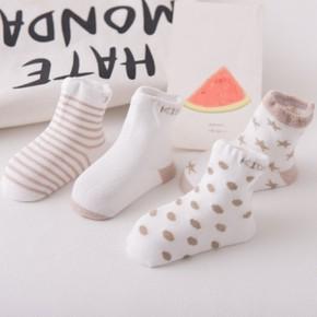 0-5岁春秋款儿童棉袜4双