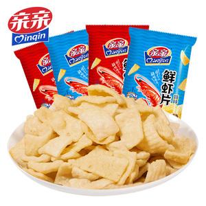 【薇娅推荐】亲亲鲜虾片80g*4包虾条大包办公室网红零食小吃食品