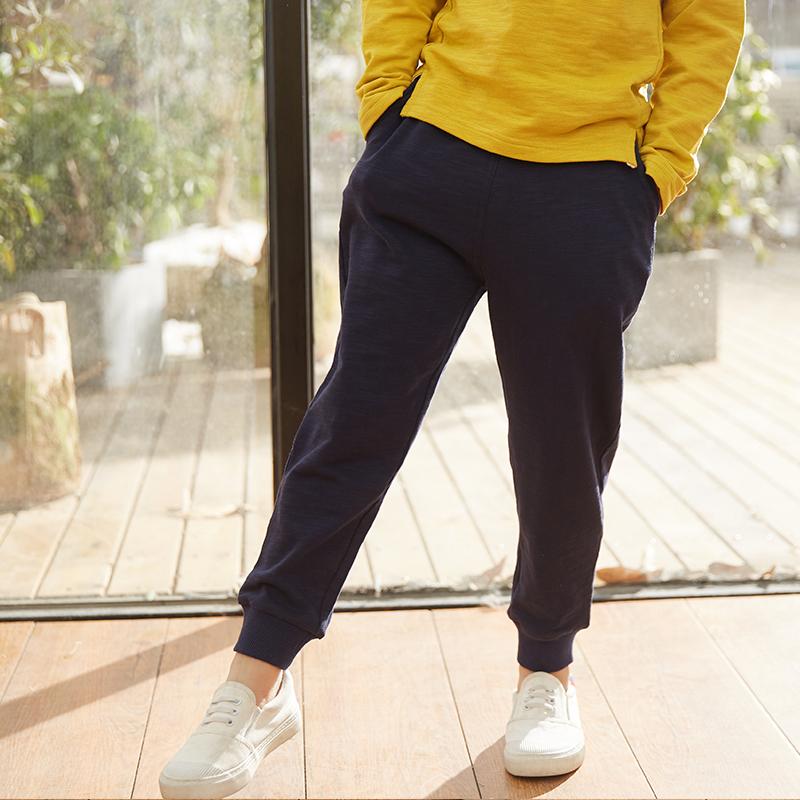 杰瑞乐咖2018春装新款男童休闲卫裤 儿童裤子男束脚运动裤长裤