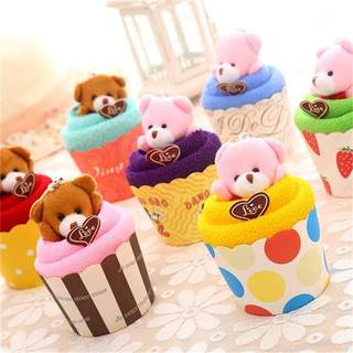 Cute Bear Cup Creative Cake Towel Practical Gift Toy Wedding Birthday Promotion Graduation Season Gift