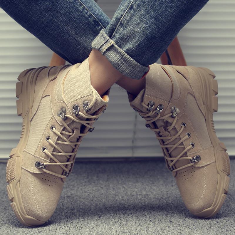 马丁靴男冬季新款高帮靴子男加绒棉鞋英伦风复古秋季潮鞋百搭军靴