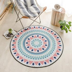 卡比特圆形地毯吊篮藤椅垫子北欧家用卧室房间电脑椅垫客厅茶几毯