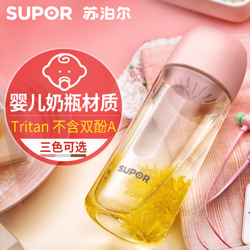 Supor BB Cup Кубок для воды Кубок для рук Пластиковый творческий женский студент корейская версия корейский ясно новый Симпатичная переносная чашка чая