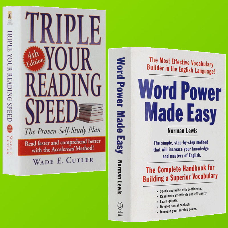 Word power made easy word power English original english version and three  times the speed english reading You Triple Reading Speed English vocabulary