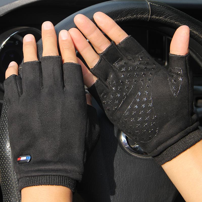 【加绒加厚】加绒冬季保暖半指手套