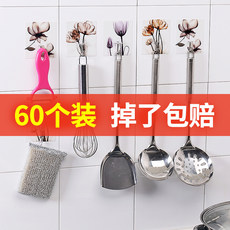 Hook strong adhesive stickers wall wall-mounted kitchen load-bearing suction cup hanging hook door wall without trace free punching sticky hook