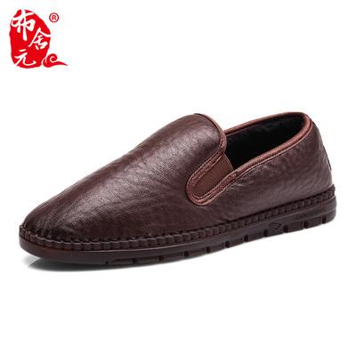 布舍元冬季老北京布鞋男棉鞋加绒加厚保暖防滑中国风传统休闲鞋