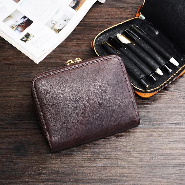 牧石MOOSHI手工皮具定制2019笔袋简约多笔套真皮大容量钢笔收纳包