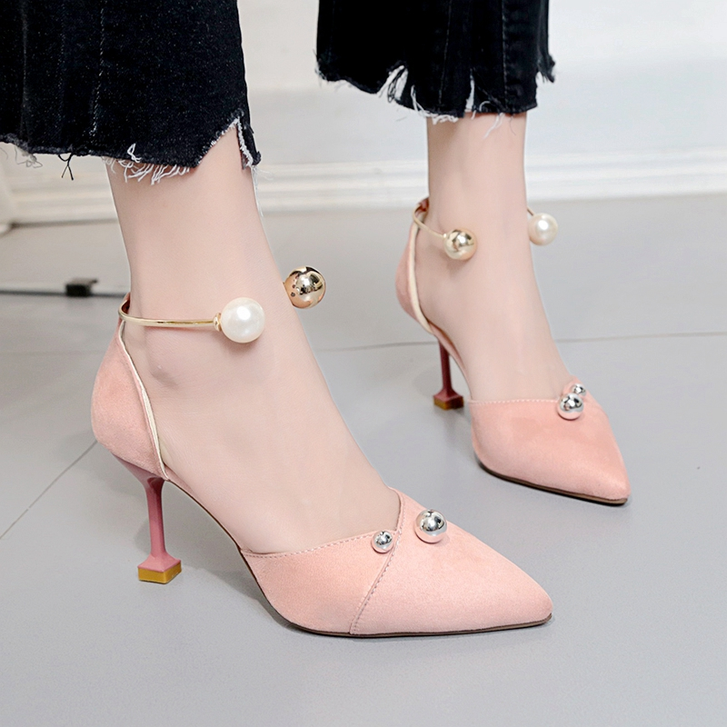 b6f062d9049 2018 new summer Korean version of the pointed chic single shoes women's  shoes fashion wild fine